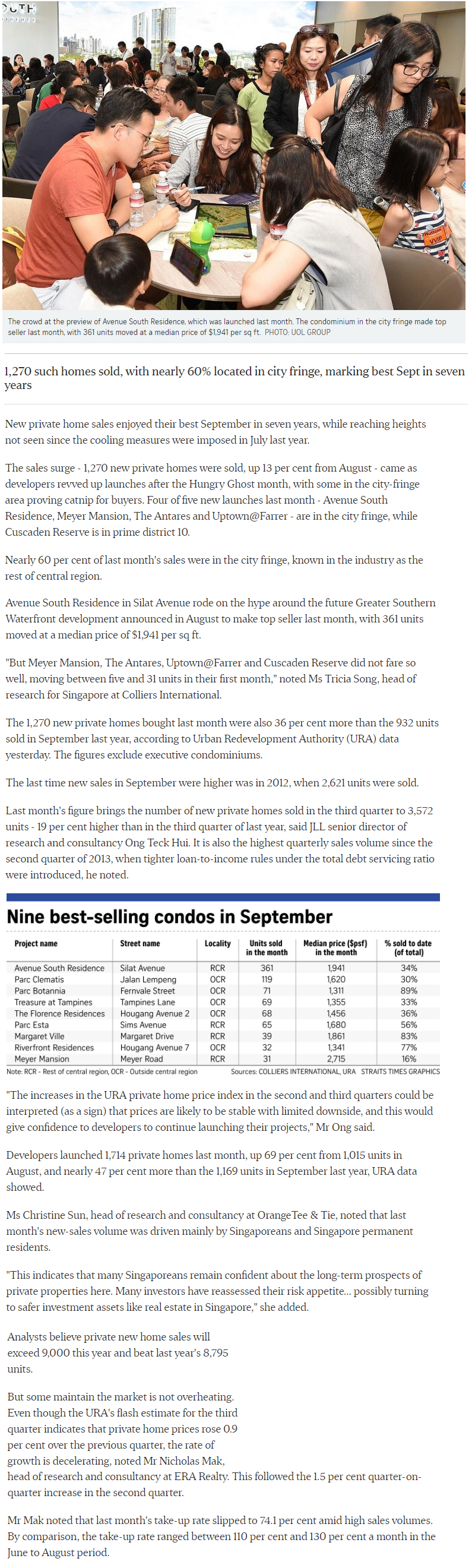 Hyll on Holland - New private Home Sales Hit A Hight In September