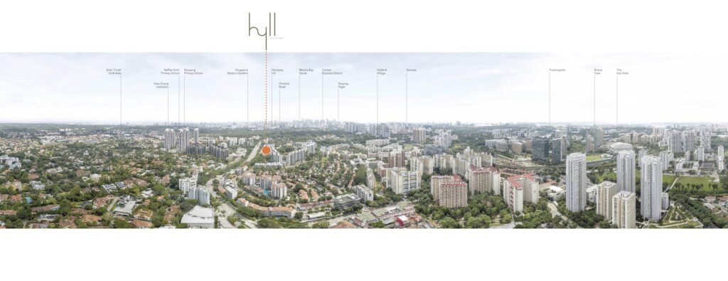 Hyll on Holland Location Map Aerial View Singapore