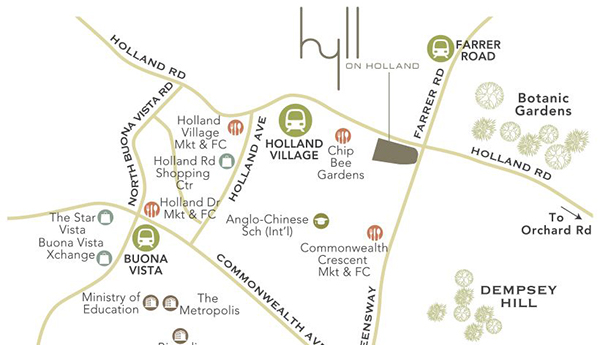 Hyll on Holland Location Map Thumbnail